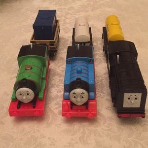 Three Thomas and friends battery operated trains